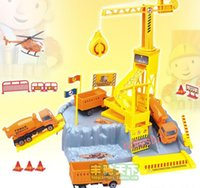best siting - building site super set model car model baby toy best gift big surprise to child with car plane