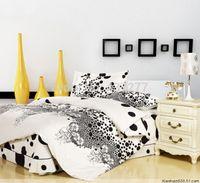 bargain comforter sets - Excellent Bargains Black and white dot flower cotton duvet cover set with bed sheet for queen size comforter bedding sets pc