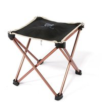 aluminium garden chairs - Outdoor Foldable Fishing Picnic BBQ Garden Chair Square Camping Stool Aluminium Alloy chair