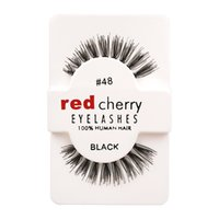 beauty super l - 12 Pairs Box Red Cherry Handmade Mink False Eyelashes and Super Long Messy Natural Eyelashes for Beauty Makeup