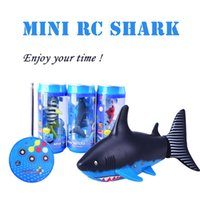 Wholesale Create Toys B CH Way RC Shark Fish Boat Mhz Mini Radio Remote Control Electronic Toy Kids Children Birthday Gift
