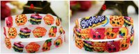 Wholesale 3 quot mm Shop World girl printed ribbon Shop Fruits Family packing DIY cartoon polyester grosgrain ribbon Headbands Bowknots DIY Materials