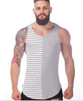 Wholesale Gym Clothing Mens Tank Top Stringer Fashion Cotton Slim Fit Men Tank Tops Bodybuilding Undershirt Gym Fitness Singlet F1043