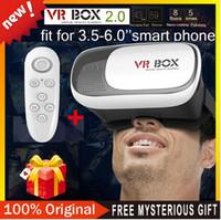 al por mayor isa-Alta calidad VR CAJA 2 + Gamepad + paquete al por menor para mirar película por teléfono móvil Android y sistema ISO
