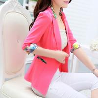 Wholesale Spring Korean Cultivating Temperament Thin Short Style Women Blazers Suits Fashion Ladies Work Office Blazer