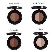 ash powder - Hottest Brand Brow Powder Duo Eyebrow Cream Powder Dark Brown Medium Ebony Ash Brown Colors In Palette