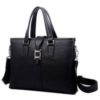 Wholesale Cowhide Genuine Leather Business Bag Men Shoulder Bags Travel Bag Laptop Man Handbag Sling Crossbody Bag Briefcase MCB001