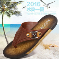 cheap slippers - Flip flops slippers for men casual sandals mens male summer flat beach slipper flip heavy bottomed cheap black feet slippers