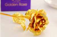 Wholesale 24K gold rose gold rose creative Valentine s Day gift to send his girlfriend a gift only rose gold