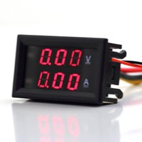 Wholesale 1Pcs V A LED Digital Single DC Volt Meter Ammeter Voltage AMP Worldwide
