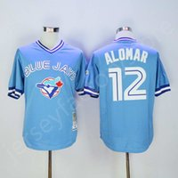 baby sports jerseys - Cheap Toronto Blue Jays Jersey shirt men Roberto Alomar Men s sports MLB Baseball jerseys for sale Baby Blue Throwback Jersey Stitched