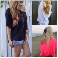 Wholesale Black T shirt batwing sleeve short sleeve comfortalbe summer choice new arrival
