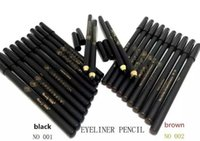 Wholesale High quality mew brand waterproof Makeup Rotary Retractable Black Eyeliner Pen Pencil Eye Liner