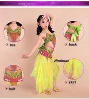 belly dancer costume set - 2016 New Arrivals Girl Belly Dance Costume Set Free size Children Bollywood Dance Costumes Children Dance Clothes for Dancer