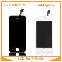 Wholesale AAA quality for iPhone C S LCD touch screen digitizer Full set Assembly White and black color