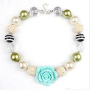 al por mayor los niños collares-2015 muchachas Chunky Bubblegum que collar de perlas de la flor de la muchacha de los niños de los bebés de la resina linda princesa joyería encantos accesorios L001
