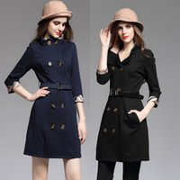 adjustable pipe stand - 2016 Brand New Sleeve Trench Coat For Women Classical England British Style Top Fashion Lady Winter Coats Fast Shipping BC1144