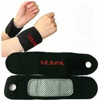 Wholesale 1Pair NEW Magnetic Therapy Tourmaline Wrist Brace Protection Belt Spontaneous Heating Massager Wrist Health Care