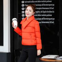 2016 Tipo de palo caliente de la nueva solapa del otoño y del invierno de las mujeres tipo chaqueta corta del algodón del párrafo abajo chaqueta