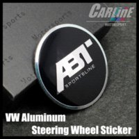 abt gti - MIX VW GTI WOLFBURGE R Rline ABT Rabbit Crystal Steering Wheel Badge Emblem Sticker Golf CL02