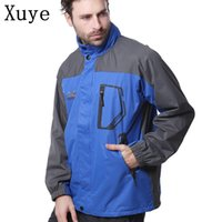 Wholesale Men Autumn thin fleece themal Outdoor Waterproof Camping Hiking Jackets Hunting Climbing WindStopper Fishing Sports Windbreaker
