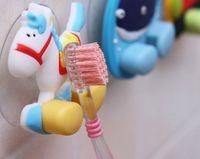 Wholesale 20pcs Cartoon toothbrush holder bathroom hanger towel rack kitchen sucker
