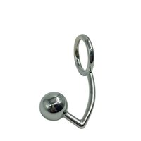 steel butt plug - Davidsource BP019 mm Wide Stainless Steel Butt Plug Ass Hook With Cock Ring BDSM Fetish Kinky Anus Anal Sex Toy Direct Selling