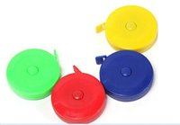 Wholesale 100pcs Plastic tape measure Home tool clothing size Soft feet Automatic retractable mix color