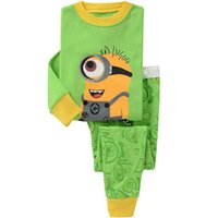 Wholesale 2016 Lovely Kids Pajamas Sets Cotton Cartoon Print Pajamas Sale Long Sleeve Tops Pants Boy Girl Sleepwear Homewear Suit Pieces Pyjamas Pjs