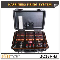 Wholesale FedEX DHL cues fireworks firing system both for remote and wire control Rechargeable Sequential and fire all function