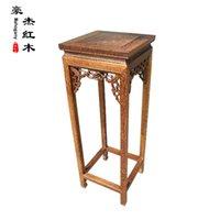 antique table base - Rosewood flower flower a few small black wings mahogany table shelf vase flowerpot base CM