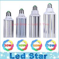 Bon Marché E27 ce smd-E27 E26 E39 E40 LED de maïs Ampoules Lampe SMD 2835 30W 40W 50W 70W LED Lights Lumières de jardin AC 100-277V CE ROHS UL