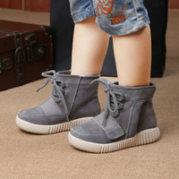 Wholesale Children Boots Kids Boost Boys Autumn Winter Casual Shoes Low Upper Genuine Leather Shoe Euro size