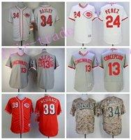 bailey baseball - Cincinnati Reds Baseball Jerseys Tony Perez Homer Bailey Devin Mesoraco Dave Concepcion Flexbase Cooperstown Vintage White Grey
