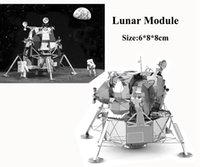 Wholesale Lunar Module D Puzzle Metal For Adult Earth Laser Cut Model D Jigsaws DIY Gift Star Wars Munitions Metal Model Puzzle