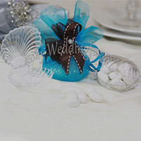 beach wedding souvenirs - Shell Candy Boxes Bomboniere Favor Boxes Baby Shower Beach Theme Wedding Souvenirs Supplies