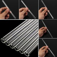 Wholesale Reusable Wedding Birthday Party Clear Glass Drinking Straws Thick Straws
