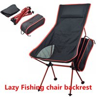 Wholesale Sports Outdoors Portable Lightweight Aluminum Folding Chair Lazy Casual Fishing Hiking Camping Chair Backrest