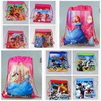 Wholesale 2016 kid favorite MIA and me MAX steel cinderella drawstring backpacks bag kid party gift