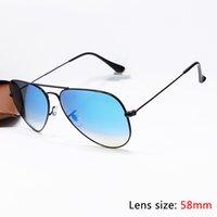 alloy cases - 2016 Top Brand Pilot Sunglasses Designer For Men Women Colours Mirror Flash Gradient Alloy Metal Fram Glass Lens mm Original Case Box