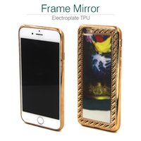 apple iphone news - Electroplate TPU Mirror photo frame For iphone Apple s Plus Samsung galaxy Note7 S7 Edge Mobile Cell Phone Case luxury Soft Gold J5 J3 News