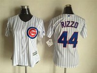 arrival mlb - 2016 New Arrivals MLB Women MLB Chicago Cubs Jerseys Anthony Rizzo Majestic White Girl Cool Base Baseball Jersey Mix Order
