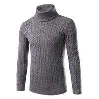 Wholesale 2016 Winter Thick Warm Cashmere Sweater Men Turtleneck Men Brand Mens Sweaters Slim Fit Pullover Men Knitwear Double collar