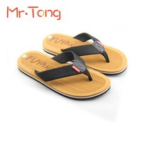 Wholesale Hot Sale Summer Men Beach Slipper Fashion Flat flip flops Antiskid Wearproof Canvas Man Male Shoe Soft Breathable Slippers