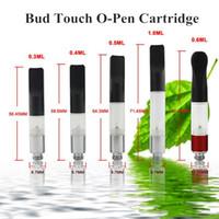 Wholesale Bud Touch CE3 Clearomizer ml ml ml ml ml Mini Slim Vaporizer Pen Hemp Oil Wax Ecigs Thread Atomizer Fit eGo EVOD Battery