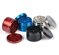 Wholesale 63mm Zinc Alloy Mental Herb Grinders Layers CNC Teeth Tobacco Grinder For Smoking Colors Dry Spice Herb