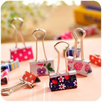 Wholesale Cute Cartoon Kawaii Heart Dot Metal Clip Creative Strawberry Clips For Kids School Material Korean Stationery