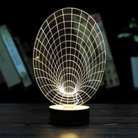 best atmosphere - Stylish Transparent D LED Bulbing LED Lamp D Wireframe Magic Night Bed Light Atmosphere Table Lamp Best Christmas Gift for Children