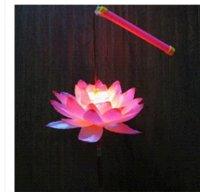 Wholesale 2014 new plastic LED lotus lamp lantern for home decoration lantern colors lantern lamp