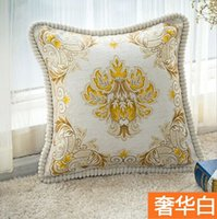 Wholesale 20 Styles Europe Style High grade Decorative Cushion Cover Pillowcase Jacquard Lumbar Pillow Vintage Flower Cushions car Home Decor